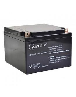 Батарея до ДБЖ Matrix 12V 26AH (NP26-12)
