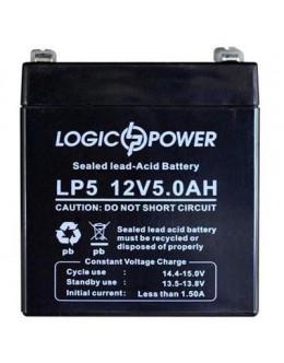 Батарея до ДБЖ 12В 5 Ач LogicPower (1513)