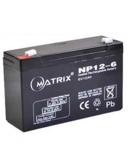 Батарея до ДБЖ Matrix 6V 12AH (NP12-6)