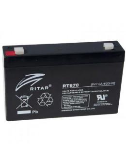 Батарея до ДБЖ Ritar RT670, 6V-7.0Ah (RT670)