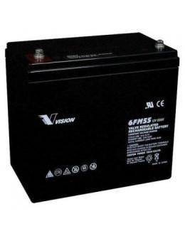 Батарея до ДБЖ Vision FM 12V 55Ah (6FM55E-X)