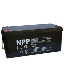 Батарея до ДБЖ NPP 12В 200 Ач (NP12-200)