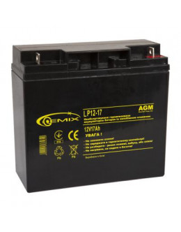 Батарея до ДБЖ 12В 17 Ач GEMIX (LP12-17)