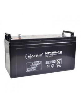 Батарея до ДБЖ Matrix 12V 100AH (NP100-12)