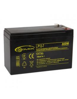 Батарея до ДБЖ 12В 7 Ач GEMIX (LP12-7)