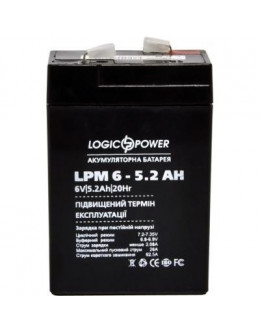 Батарея до ДБЖ LogicPower LPM 6В 5.2 Ач (4158)